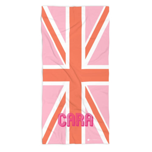Union Jack Pink Beach Towel