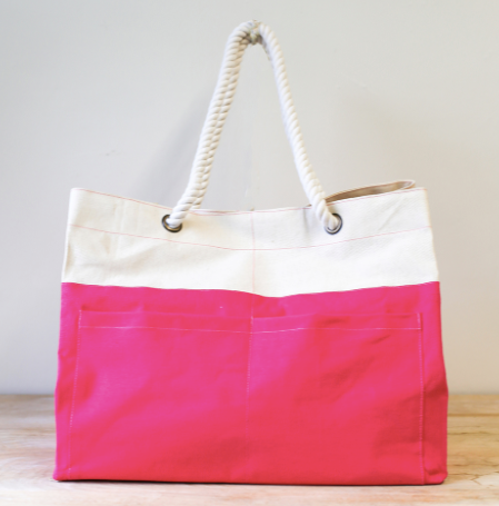 Tickled Pink Beach Bag Tote