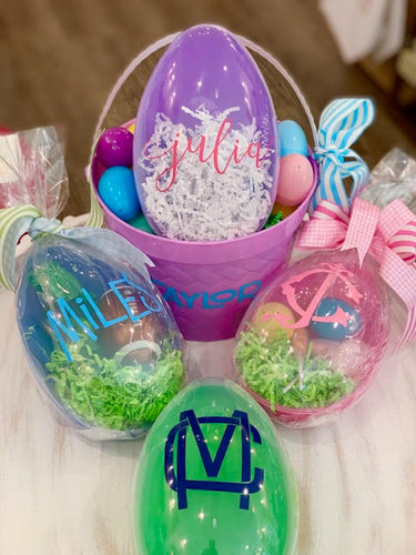 Large Personalized, Plastic Easter Egg