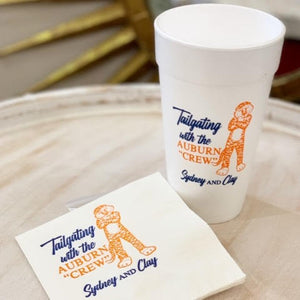 Auburn 20 oz. Foam Cups & Napkin Set