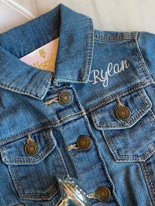 Monogrammed Jean Jacket Joy for Baby & Kids