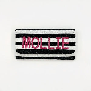 The Mollie Name Beaded Bag
