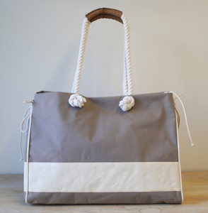 Dockside Beach Bag Tote in Taupe