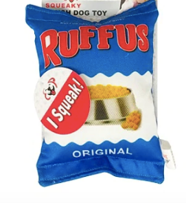 Plush Cat Pet Dog Toy, Ruffus Chips
