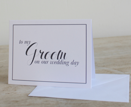 To My Groom Husband On Our Wedding Day Note Card