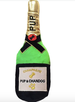 Plush Dog Cat Pet Toy, Pup & Chandog Champagne