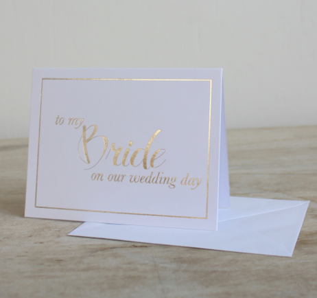 To My Bride On Our Wedding Day Note Card