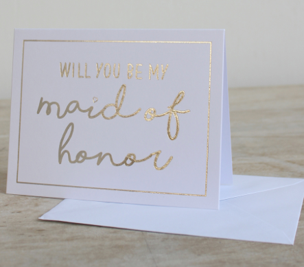 Will You Be My Maid of Honor Ask Card