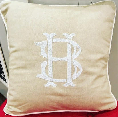 Harmon Monogram Pillowcase