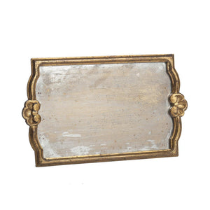 Large Vendome Tray with Antiqued Mirror, Gold