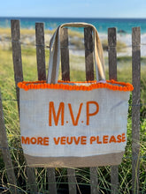 Veuve Please Beaded Tote Bag
