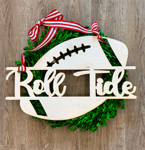 Wooden Football Door Decor