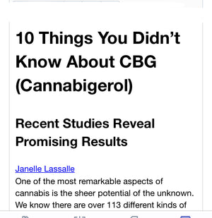 Understanding Cannabinoids, Introducing CBG