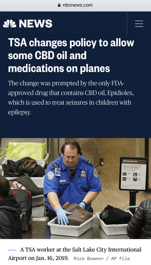 TSA To Allow Some CBD on Plane - repost