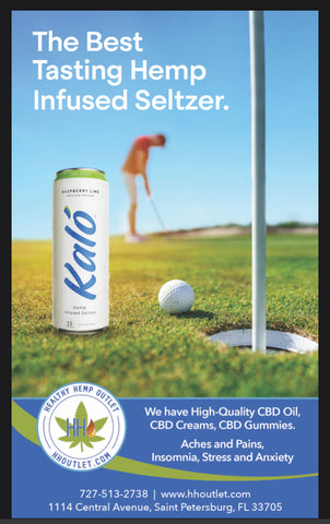 Kalo hemp seltzer drink available at Hh outlet in Downtown st pete 33705