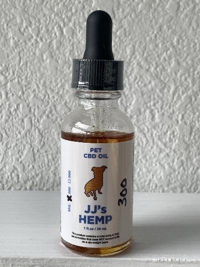 CBD Oil for Dogs - JJ's Hemp CBD for Dogs 300mg or 900mg - HH OUTLET
