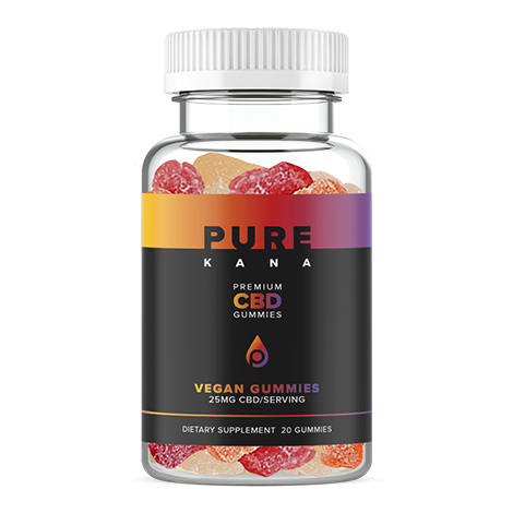 CBD Vegan Gummies 25mg Each by Purekana - HH OUTLET
