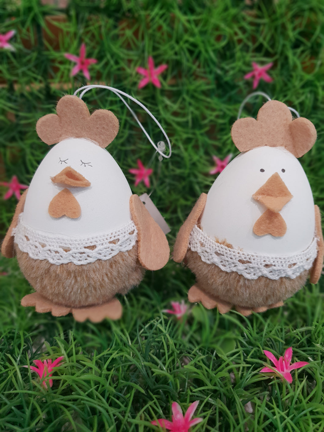 Easter Egg Hanging Chickens