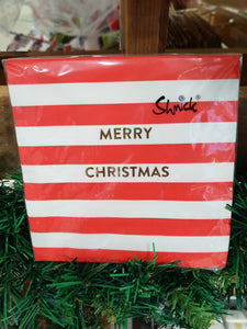 Christmas Napkins - Striped