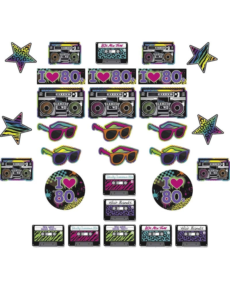 80s party cutout pack 30