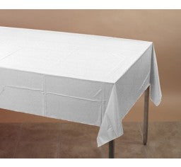 White Rectangle Plastic Tablecover