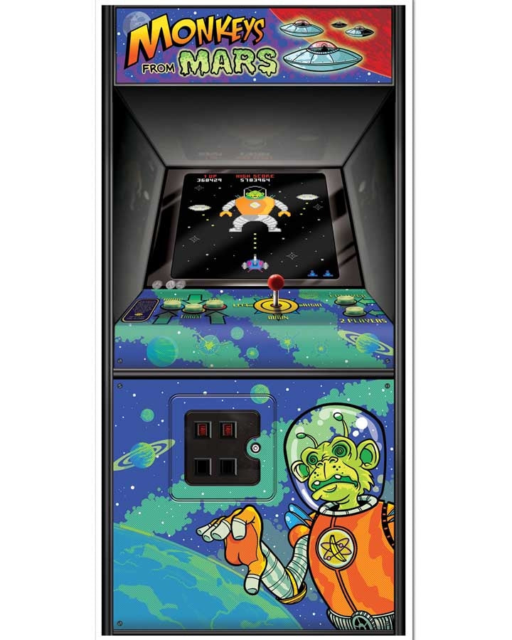 80s party arcade game door cover poster