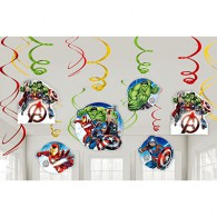 Avengers Party Swirl Decorations
