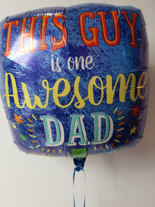 Happy Fathers Day Confetti Balloon Bunch