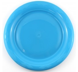 Azure Blue Plastic Dinner Plates Pack 25