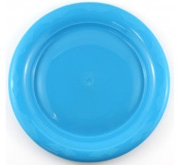Azure Blue Plastic Lunch Plates Pack 25