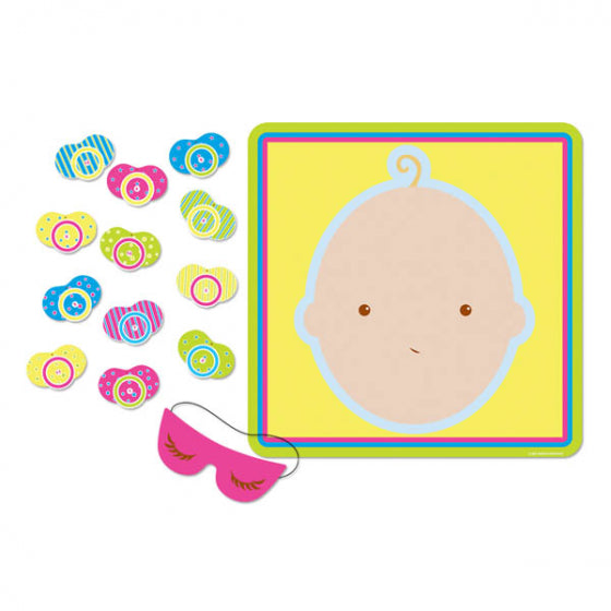 Baby Shower Game Pin The Pacifier On The Baby