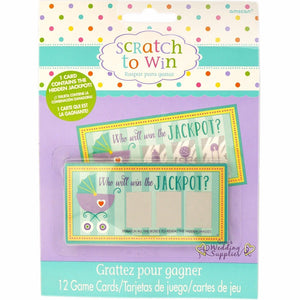 Scratch To Win baby shower game