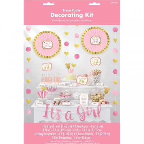 It's A Girl Treat Table Decorating Kit