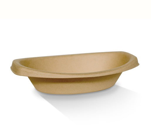 Bamboo Oval Bowls 20oz/244x155x56mm