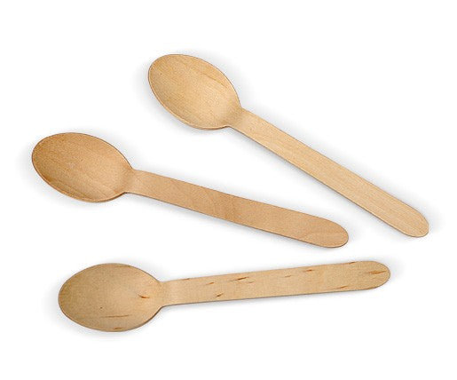 Bamboo Spoons - Pack 100