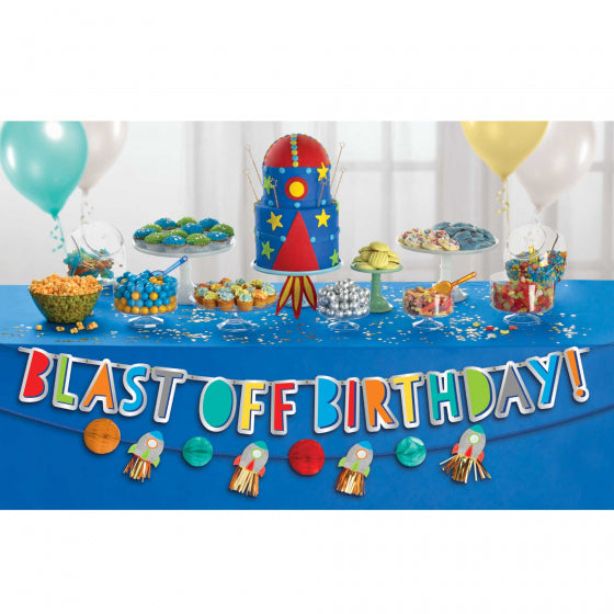 Blast Off Banner Kit - Space Party Banner