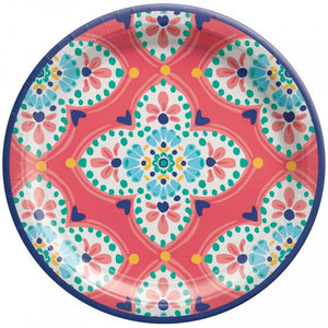 Boho Paper Lunch Plates