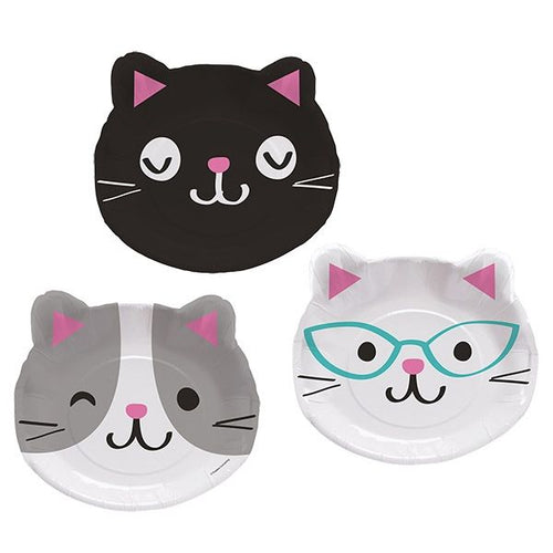 Purr-fect party shaped plates - Cat plates