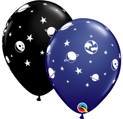 Celestial and space printed balloon Pack of 5
