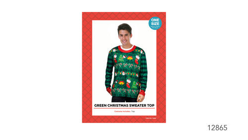 Christmas Sweater Top - Green