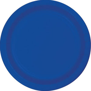 Cobalt or Royal Blue Paper Snack Plates