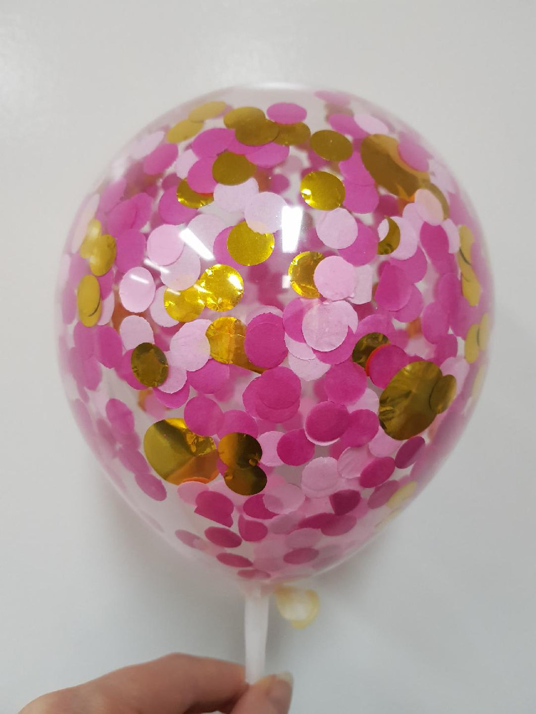 Confetti Balloon-Pink mix & Gold