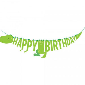 Dinosaur Bones Happy Birthday Banner