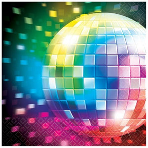 Disco Lunch Napkins Pk16