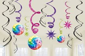 Disco Swirl Decorations