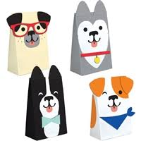 Dog Party Paper Treat Bags