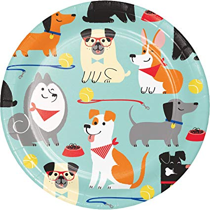 Dog Party Lunch Plates