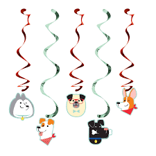 Dog Party Swirl Decorations