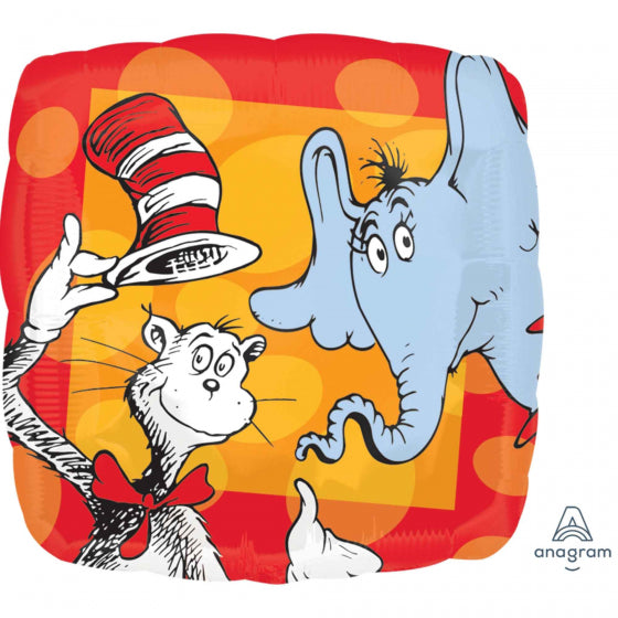 Dr Seuss Cat In The Hat Foil Balloon 17