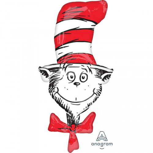 Dr Seuss Cat In The Hat Supershape Foil Balloon